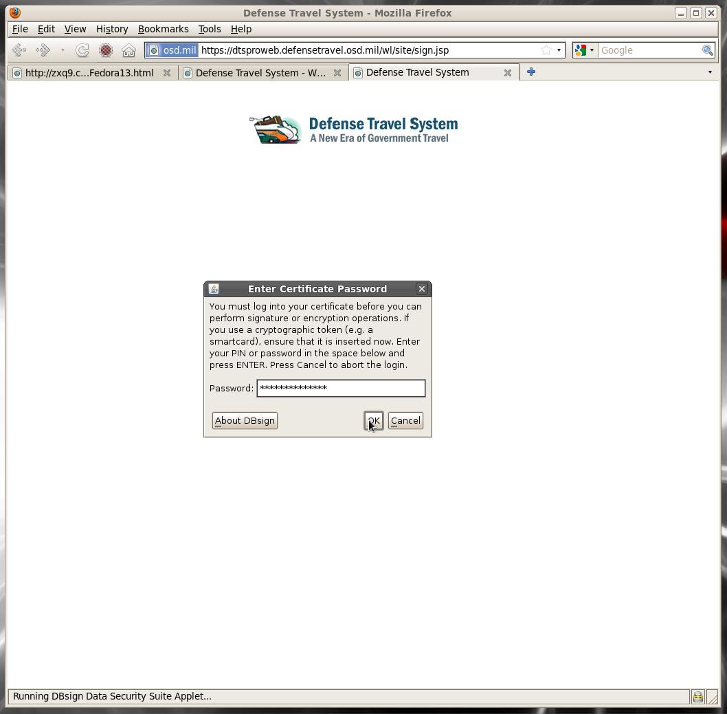 Dod Cac Setup For Fedora 13 Linux 32 Bit X86
