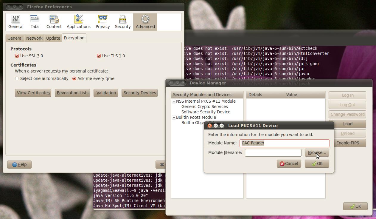 Dod Cac Setup For Ubuntu 104 Lts Linux 32 Bit X86