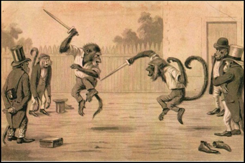 Nothing as cool as a monkey swordfight.
